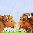 Küsschen Fridolin und seine Büffeline