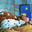 Dollepseite 7 aus dem Bilderbuch: Joschi, das kleine Lamm