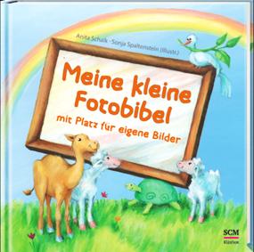 Cover der kleinen Kinderbibel mit Platz für Fotos